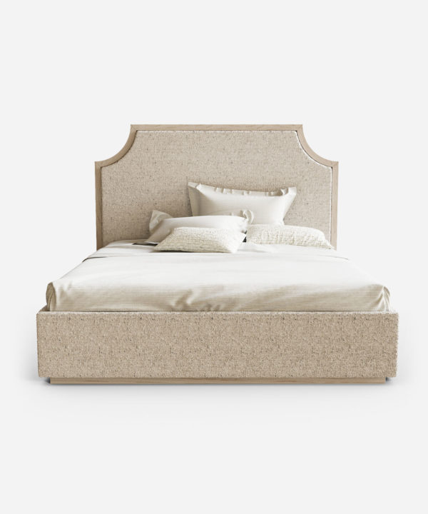 Кровать с большим изголовьем и встроенными бра
